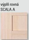SCALA A - výplň rovná